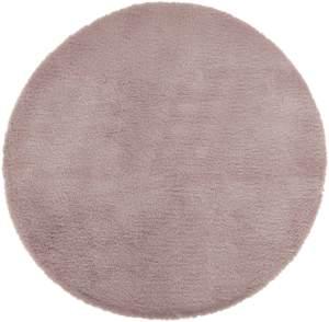 Teppich aus Kunstfell, Ø 80 cm, taupe