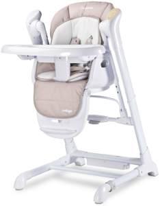 Hochstuhl Kinder Caretero Indigo Premium DeLuxe 2in1 Kinderhochstuhl Babywippe Beige
