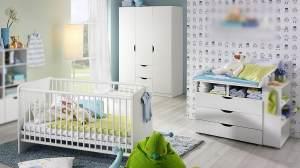Rauch 3-tlg. Babyzimmer-Set 'ALVARA' alpinweiß