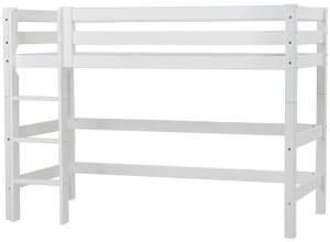 Hoppekids 'Premium' Hochbett 70x160 cm, weiß, inkl. Rollrost und Leiter, Kiefer massiv, umbaubar, nachhaltig