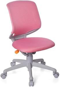 hjh OFFICE 712040 Kinder-Schreibtischstuhl Kid Move Grey Netzstoff Rosa/Grau Drehstuhl ergonomisch, Rückenlehne verstellbar