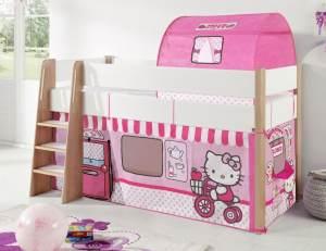Relita 'SAM 2' Hochbett inkl. Stoffset 'Hello Kitty'