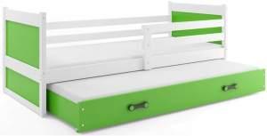 Interbeds 'Rico' Funktionsbett weiß/grün90x200