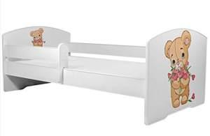 Angelbeds 'Luk2 Luk' Kinderbett 80 x 160 cm, Motiv 2, mit Lattenrost, Matratze und mit Bettschublade