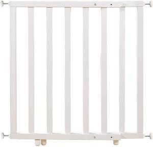 roba Türschutzgitter, für Türbreiten 62 - 106 cm, Klemmbefestigung, Holz, Weiß