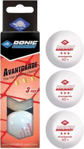 Donic Tischtennisbälle Avantgarde 3* 40+ 3 Stück weiß