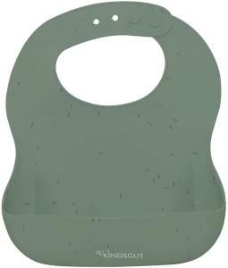 Kindsgut Silikonlätzchen, mit Auffangschale für Babys und Kleinkinder, dezente und moderne Farben, frei von BPA, Streusel, Pistazie