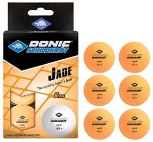 Donic Tischtennisbälle Jade Poly 40+ 6 Stück orange