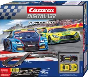 Carrera 20030011 Digital 132 'GT Race Battle', Autorennbahn-Set, 7,3 Meter Streckenlänge, bis zu 6 Spieler, ab 8 Jahren