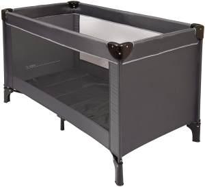 Nattou Reisebett für Babys mit Transporthülle, 120 x 60 x 75cm, 100% Polyester, Grau