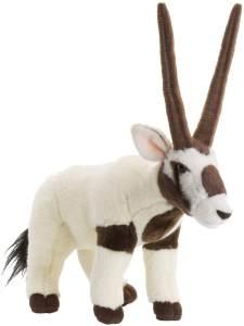 WWF WWF00355 Plüsch Oryxantilope, realistisch gestaltetes Plüschtier, ca. 23 cm groß und wunderbar weich