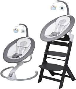 BabyGO 'Homey' Babywippe grey, mittels Adapter auf Hochstuhl montierbar (ohne Hochstuhl)
