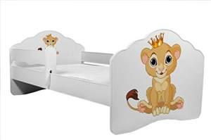 Angelbeds 'Railing Fala' Kinderbett 80 x 160 cm, Motiv 13, mit Lattenrost, Matratze und mit Bettschublade