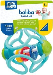 Ravensburger ministeps 4152 baliba Rasselball, Baby Spielzeug ab 3 Monate, Greifling, Babyrassel, türkis