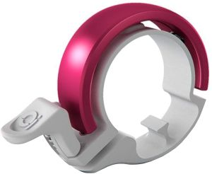 Knog Fahrradklingel Oi Classic Small, 22,2 mm , Weiß Pink