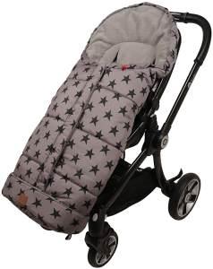 Kinderwagen Fußsack Star Print Outside, grey, universell einsetzbar