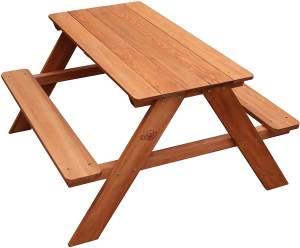 Sitzgruppe DAVE für Kinder, Holz, braun, Picknicktisch