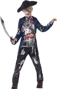 Halloween! Smiffys Kostüm Pirat Deluxe, mit Oberteil und Hose und Hut, Sublimationsdruck