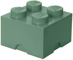 Lego 'Storage Brick 4' Aufbewahrungsbox sandgrün