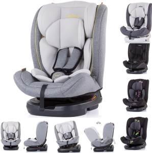 Chipolino Kindersitz Atlas Gruppe 0+/1/2/3 (0 - 36 kg), 3-Punkt-Sicherheitsgurt hellgrau