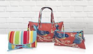 Belily-World Paradise Shopper Bag - Wickeltasche Set