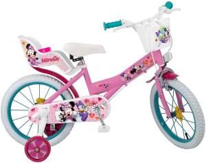 Toimsa 16 Zoll Kinderfahrrad Mädchenfahrrad Disney Minnie Mouse