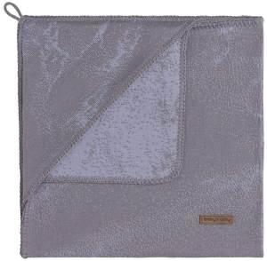 BO Baby's Only - Kapuzendecke Marble - Cool Grey/Lila - 75x75 cm - 50% Baumwolle/50% Polyacryl