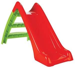 Jamara 460265 'Happy Slide', 123 x 60 x 72 cm (LxBxH), ab 12 Monaten, bis 25 kg belastbar, rot-grün
