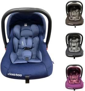 Kikkaboo Kindersitz, Babyschale Vivo Gruppe 0+ (0 - 13 kg) weiches Körperkissen blau