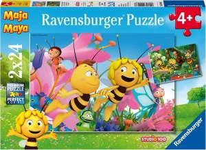 Ravensburger Kinderpuzzle 09093 - Die kleine Biene Maja - 2 x 24 Teile