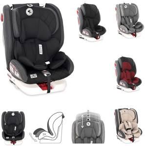 Lorelli Kindersitz Roto Isofix Top Tether SPS Gruppe 0/1/2/3 (0-36kg) 0-12 Jahre, Farbe:schwarz