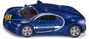 siku 1541, Bugatti Chiron Polizeiauto, blau, Metall/Kunststoff, Bereifung aus Gummi, Öffenbare Türen