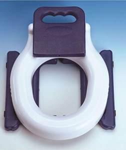 VCM Toilettentrainer WC Klo Sitz Toilettendeckel Kinder Baby Toilet Seat 2in1 Mobile Klobrille Deckel Brille Klositz Weiß