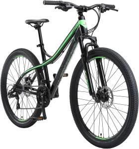 Bikestar Kinderfahrrad Fahrrad Alu Mountainbike 21 schwarz-grün 27,5 Zoll