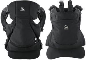 STOKKE® MyCarrier™ Bauch- und Rückentrage SET – Mitwachsende Babytrage für Neugeborene & Kleinkinder – Tragesystem aus Bio-Baumwolle – Ultraleicht & ergonomisch – Farbe: Black