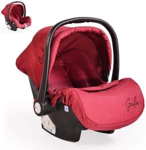 Cangaroo Babyschale Gala, Gruppe 0+ (0 - 13 kg), Sitzpolster, Fußabdeckung rot