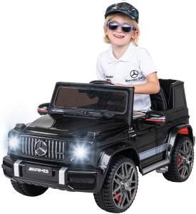 Kinder Elektroauto Mercedes Benz G63 Kinderauto Elektrofahrzeug Elektro Fahrzeug (Schwarz)