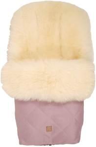 Kaiser 'Nelly' Lammfell Fußsack Limited Edition, milky sand, orchid pink, universell einsetzbar