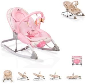 Cangaroo Babywippe Carrie mit Musik und Vibration, Spielbogen, ab Geburt rosa