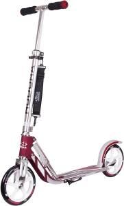 HUDORA 14764 'BigWheel 205' Scooter, ab 6 Jahren, höhenverstellbar bis 104 cm, klappbar, max. belastbar bis 100 kg, Magenta/Silber