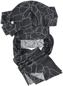Didymos 46080 - DidyTai, Modell Ellipsen schwarz/weiß