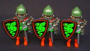 PLAYMOBIL® 7669 - Drei Ritter der 'Grünen Drachen' (Folienverpackung)