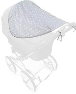Priebes - Johanna Sonnensegel für Kinderwagen / Buggy, zweiseitig mit Seitenschutz & UV Schutz 50+ - S