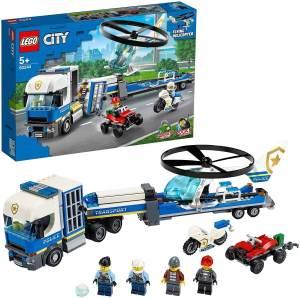 LEGO City 60244 Polizeihubschrauber-Transport mit Motorrad und Truck