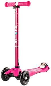 Micro Kinderroller Maxi Deluxe Kickboard Pink mit T-Lenker