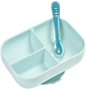 Beaba 2-tlg. Baby Mahlzeit-Set Silikon Blau