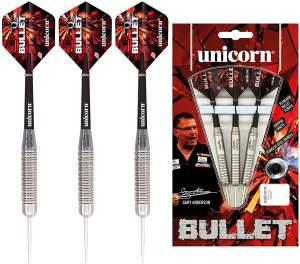Gary Anderson Bullet Darts Stahl-Spitze 24g Stahl rot