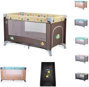 Moni Reisebett, Laufstall Safari Matratze Sichtfenster Seiteneingang Tragetasche, Farbe:braun