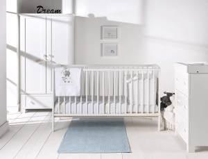 East Coast Hudson 2 in 1. Kinderbett und Babybett. weiß. 144,5 cm