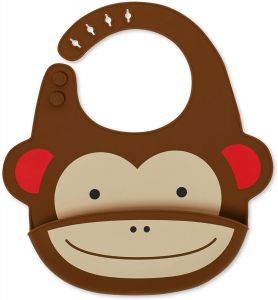 Skip Hop Zoo Lätzchen aus Silikon, mit Krümelschutz, mehrfarbig, Affe Marshall